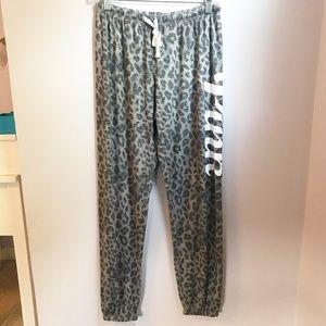 Victoria's Secret PINK Leopard Print Pajama Pants
